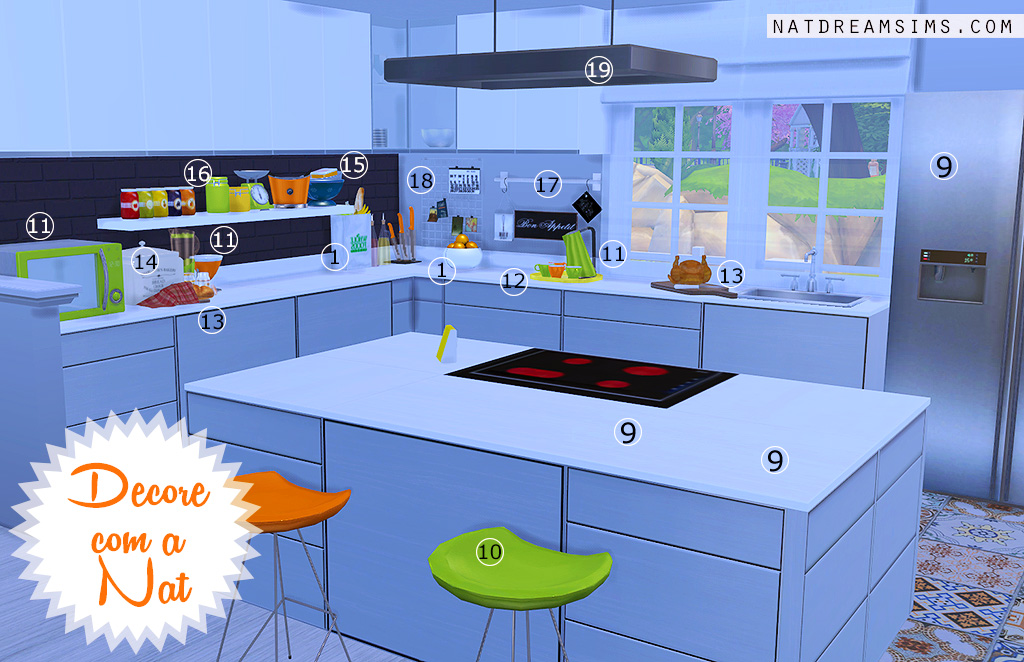 Cozinha sala de jantar projeto decore com a nat nat for Sala de estar the sims 4