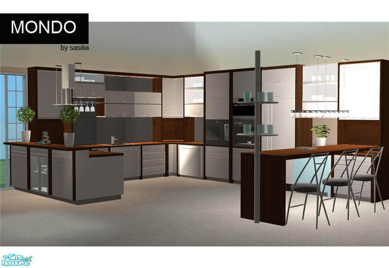 Sims  Modern Kitchen Set