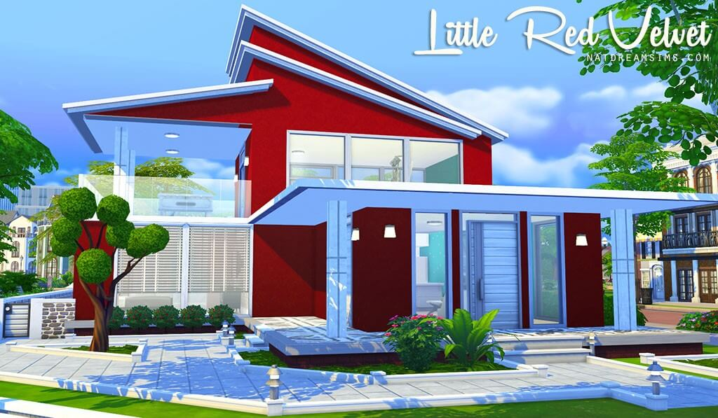 Little red velvet the sims 4 no cc nat dream sims for Casas modernas the sims 4