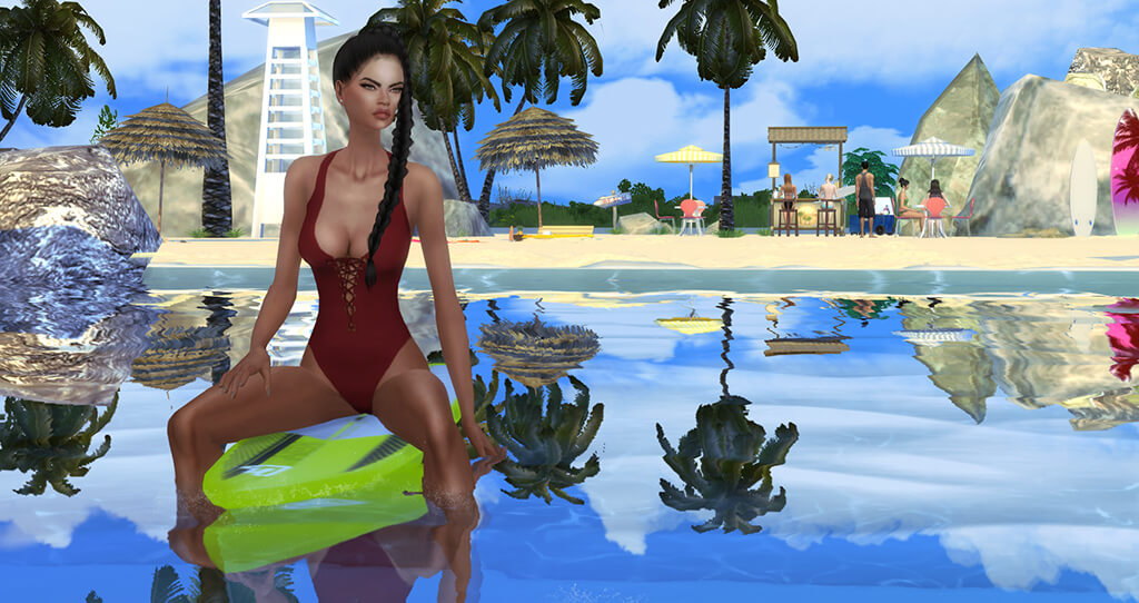 Surfboard – Poses The Sims 4 | Nat Dream Sims