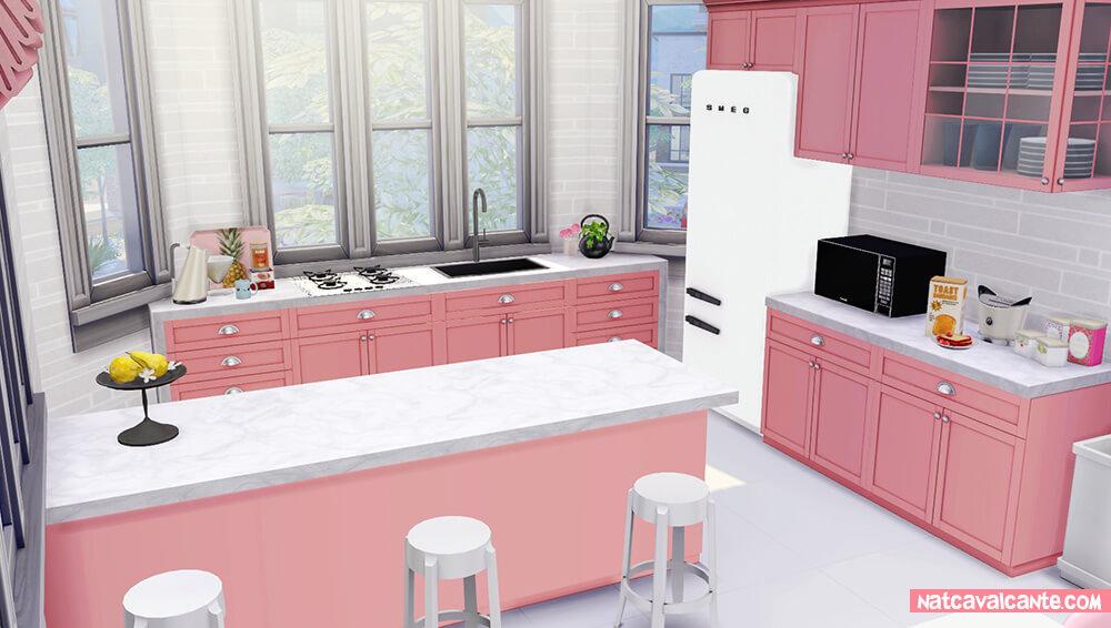 decoracao-cozinha-rosa