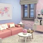 Decoração Rosa Quartz e Serenity | The Sims 4