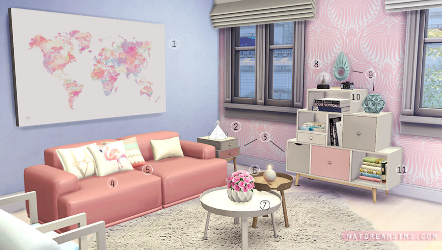 Decora 231 227 O Rosa Quartz E Serenity The Sims 4 Nat Dream Sims