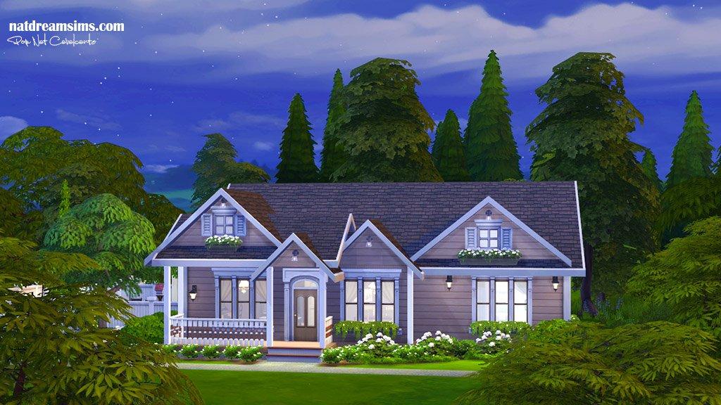 Casa familiar pequena the sims 4 no cc nat dream sims - Casas bonitas sims 3 ...