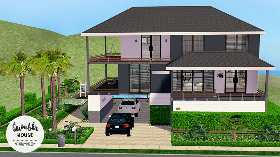 Lotes the sims 2 nat dream sims for Minimalist house sims 2