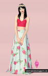 Top de Crochê e saia Floral – The Sims 2